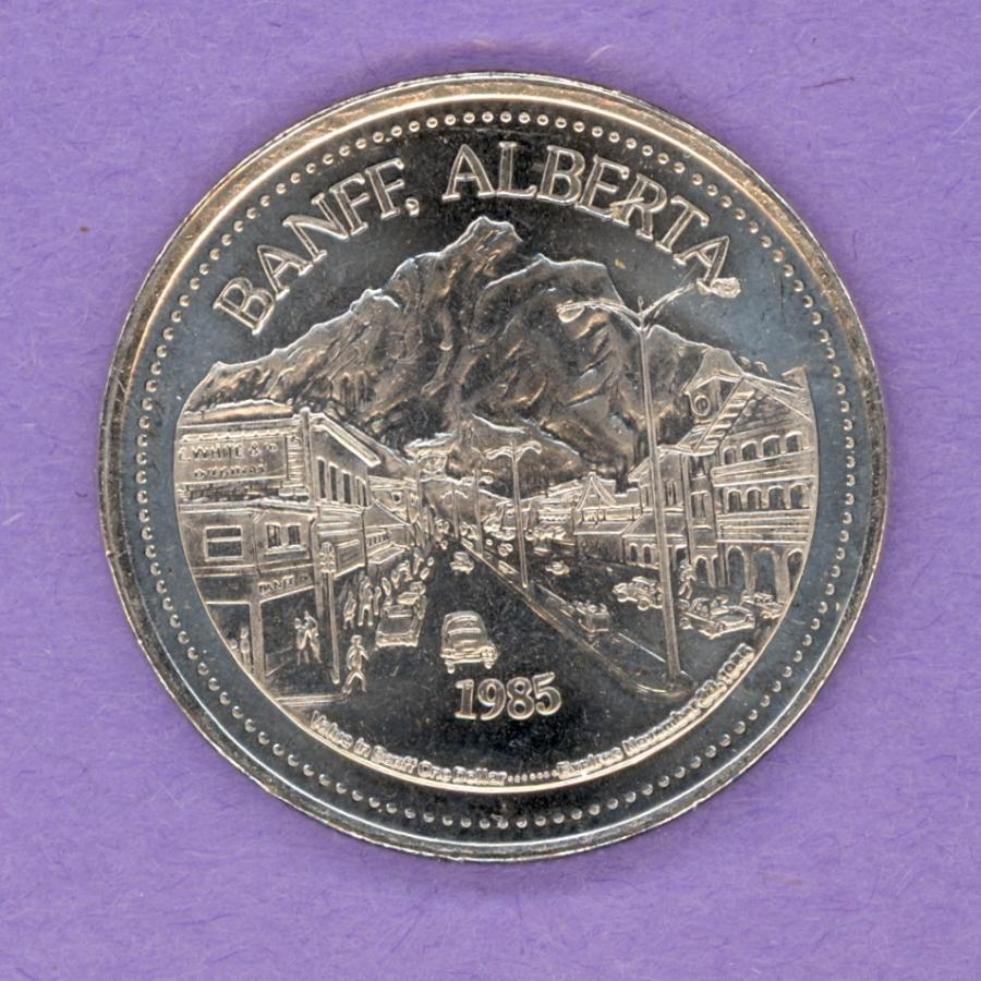 1985 Banff Trade Token - Banff Motiff