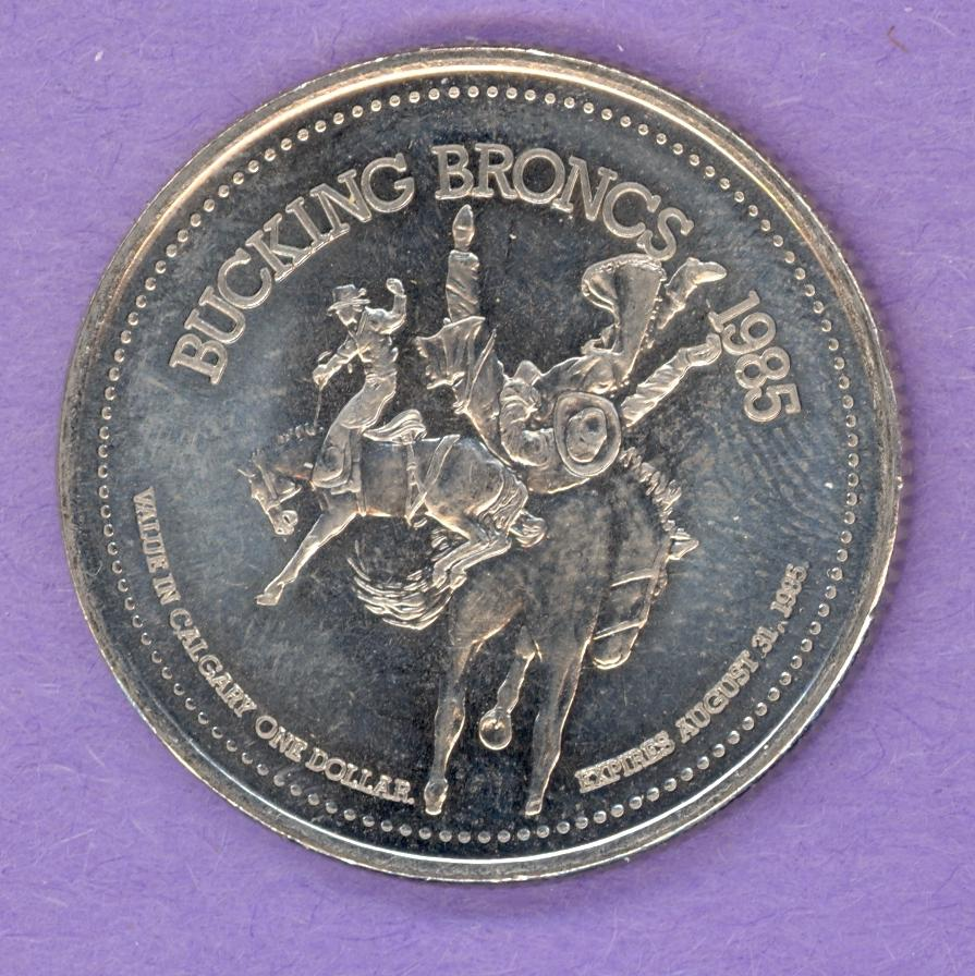 1985 Calgary Trade Token - Tom Three Persons No Mint Mark