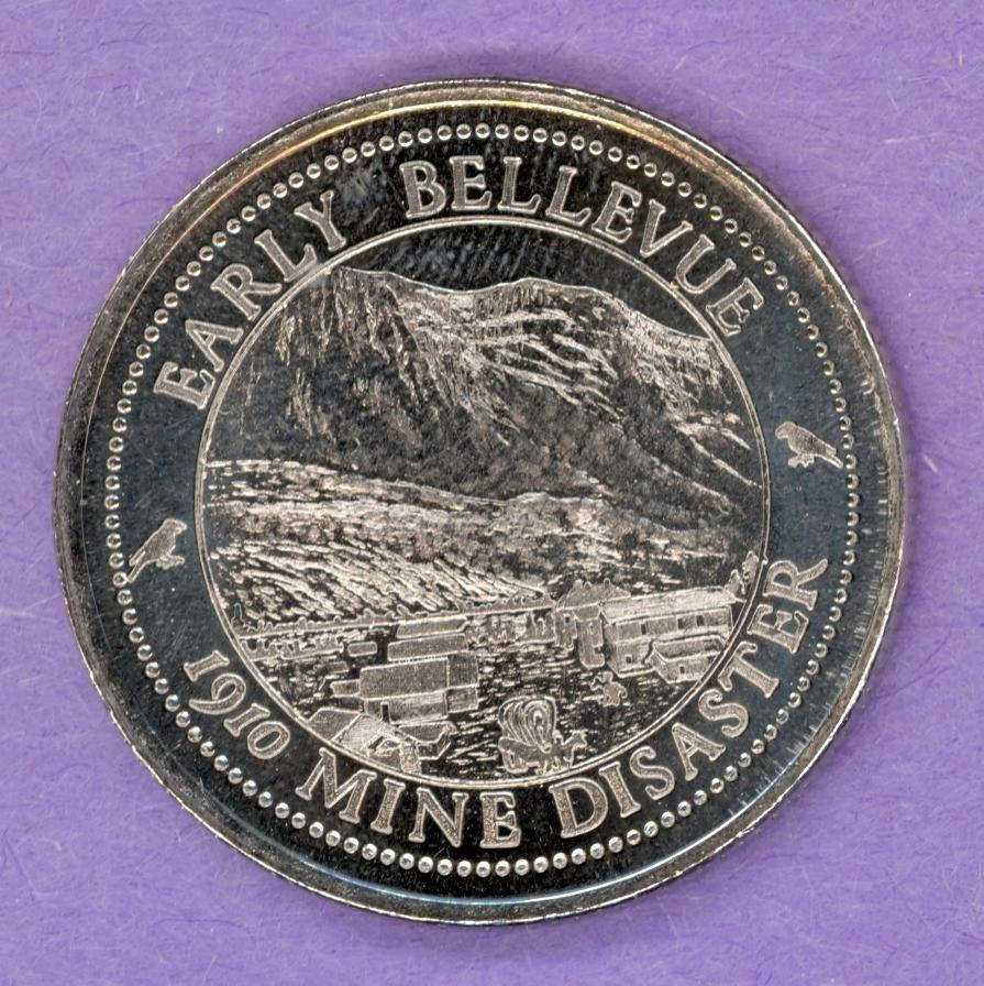 1985 Crowsnest Pass Trade Token - Early Bellevue