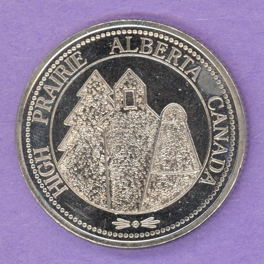 1985 High Prairie Alberta Trade Token - Moose
