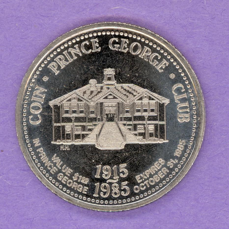1985 Prince George BC Trade Token - Mr PG Building NBS
