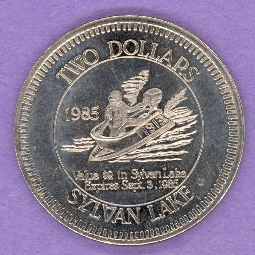 1985 Sylvan Lake, Alberta Trade Dollar - Mermaid