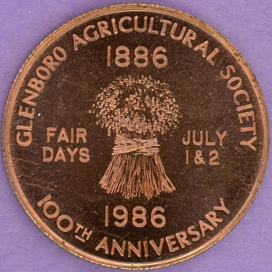 1987 Glenboro Manitoba Municipal Trade Token or Dollar Agricultural Society