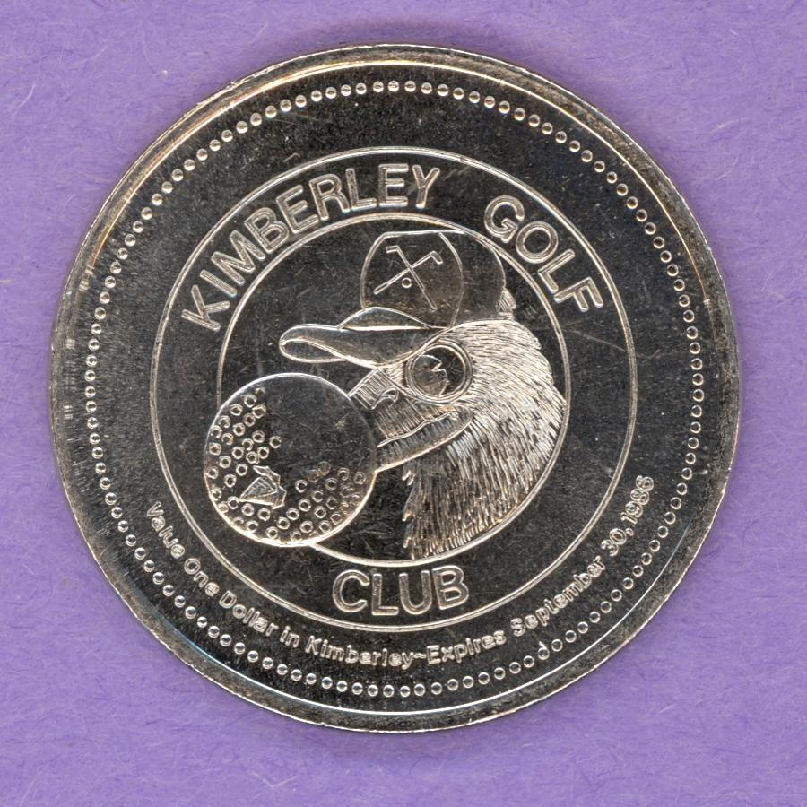 1986 Kimberley BC Trade Token - Golf