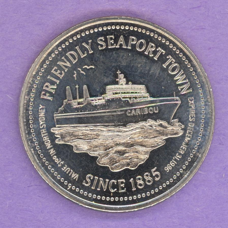1986 North Sydney Nova Scotia Trade Token - Ship