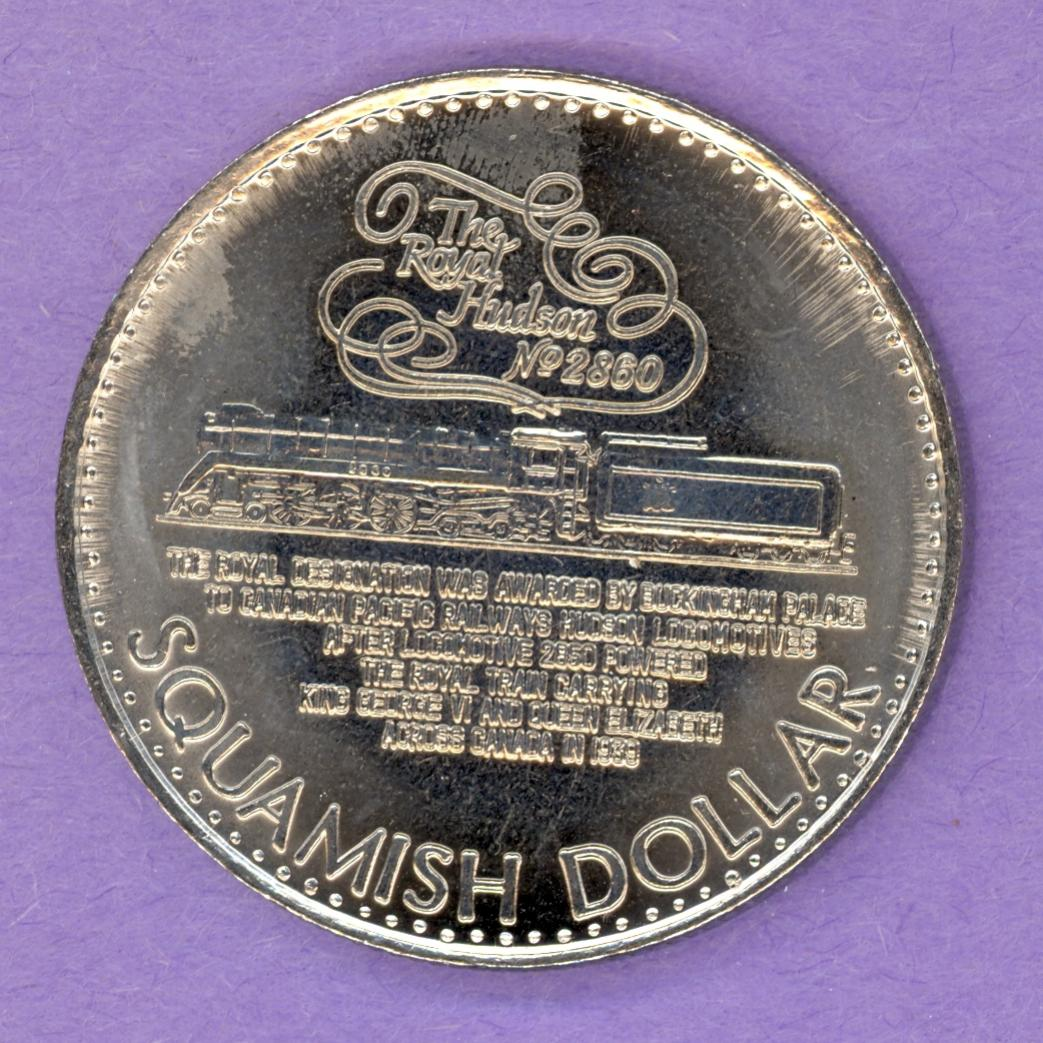 1986 Squamish BC Trade Token Train Sea to Sky Country