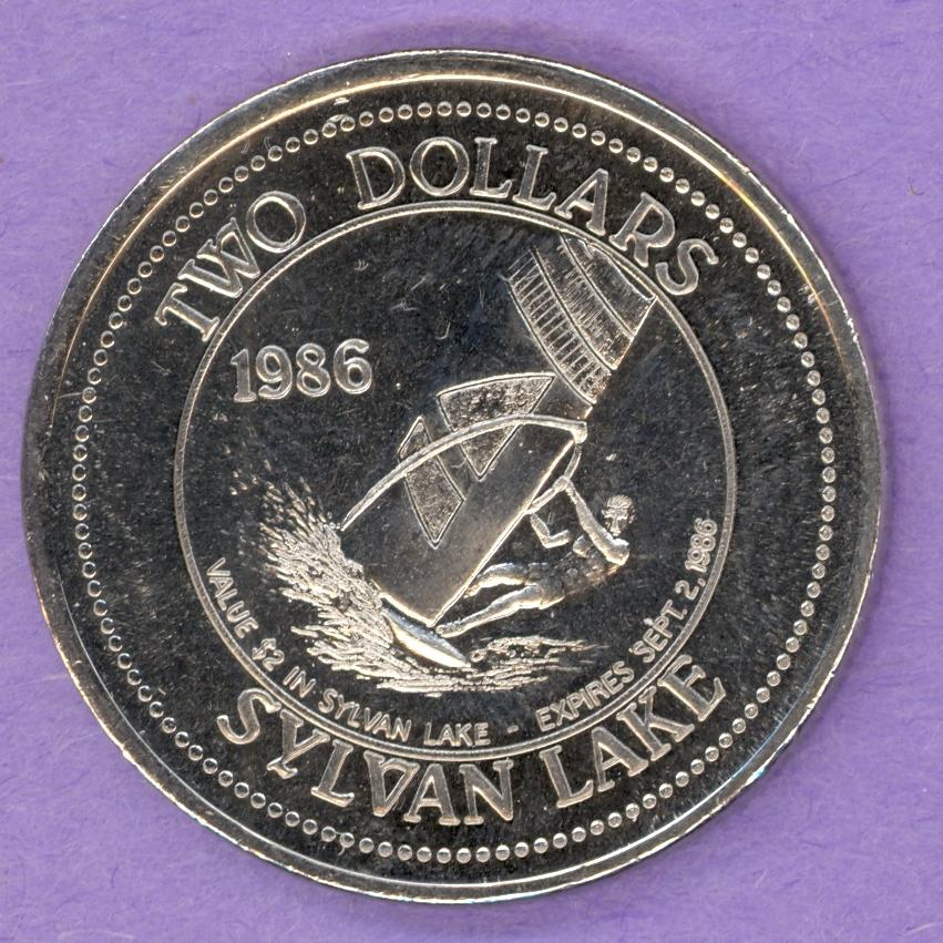 1986 Sylvan Lake, Alberta Trade Dollar - Sailboard