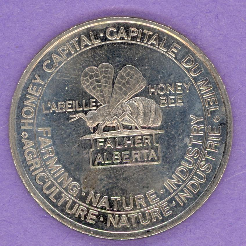 1987 Falher, Alberta Trade Dollar - Bee