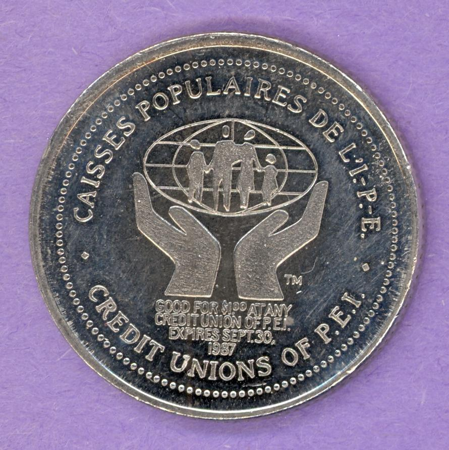 1987 Prince Edward Island Credit Unions Private Trade Token 50th Anniversary
