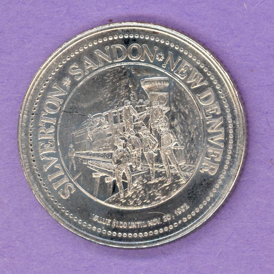 1992 Silverton Sandon New Denver Trade Token - Train