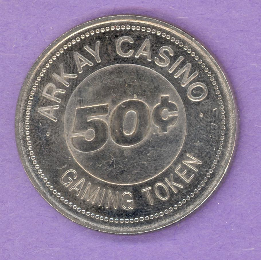 1993 Arkay Casino Calgary Alberta Gaming Token 50¢ Nickel Bonded Steeld Steel