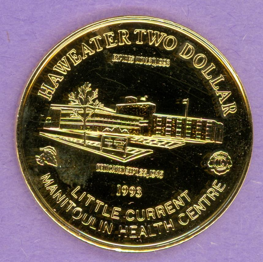1993 Manitoulin Island, Ontario Trade Dollar - Gold Plate