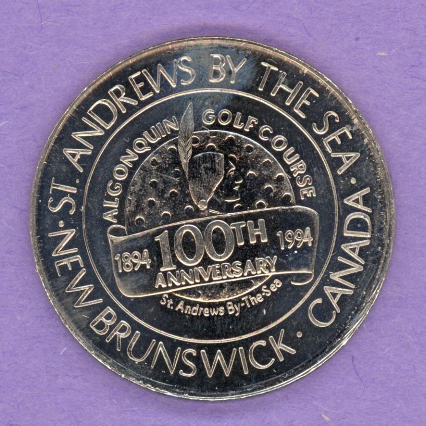 1994 St. Andrews-By-The-Sea New Brunswick Trade Token or Dollar Golf Course