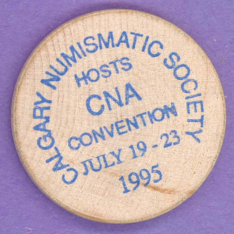 1995 Calgary CNA Convention Wooden Nickel Cowboy Hat