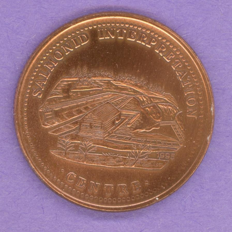 1995 Grand Falls Windsor Newfoundland Trade Dollar Bronze Plate