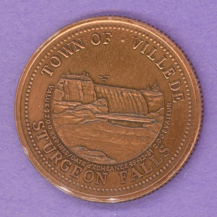 1995 Sturgeon Falls Ontario Trade Dollar Copper Plate