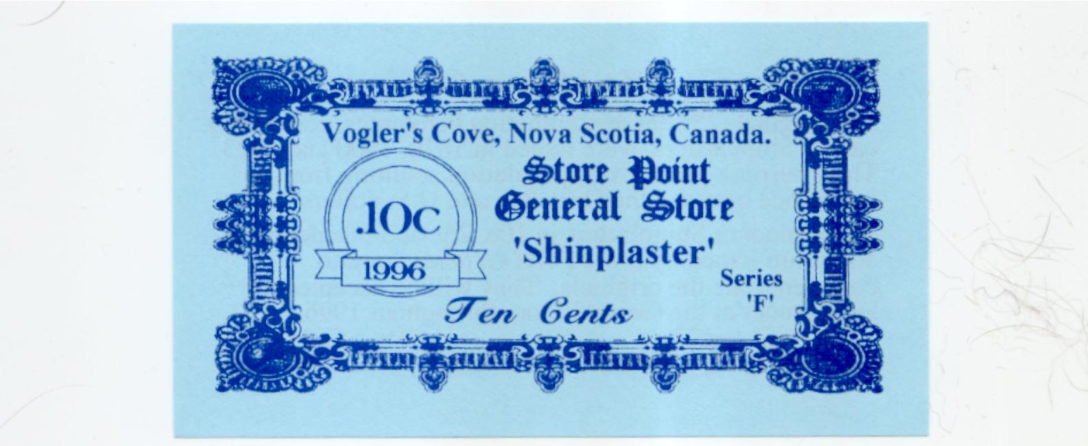 1996 Store Point General Store 10 cent Shinplaster