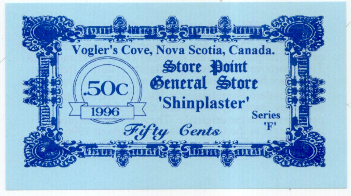 1996 Store Point General Store 50 cent Shinplaster