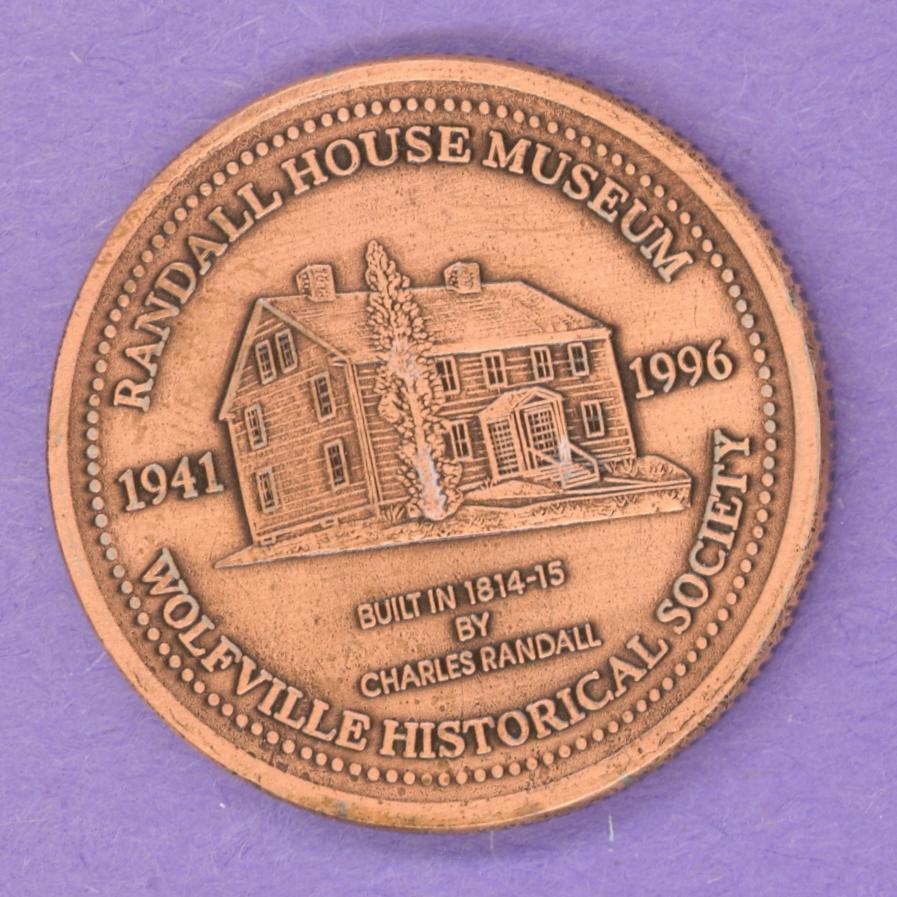 1996 Wolfville Nova Scotia Trade Token - Bronze Plate