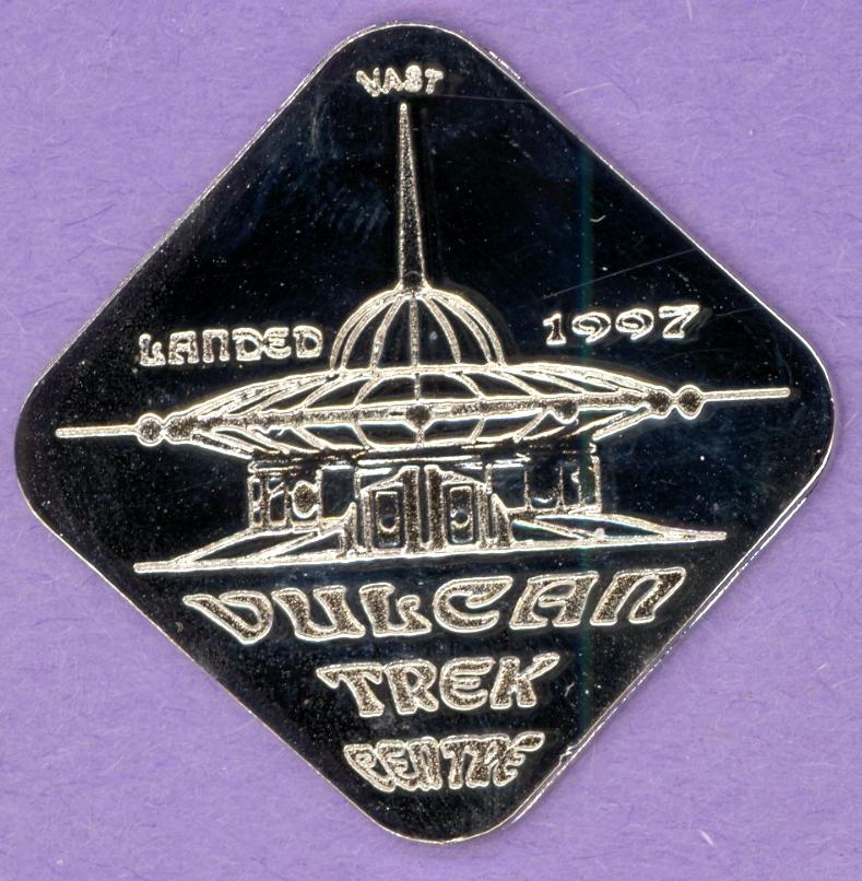 1997 County of Vulcan, Alberta Trade Dollar Trek Centre Silver Plate