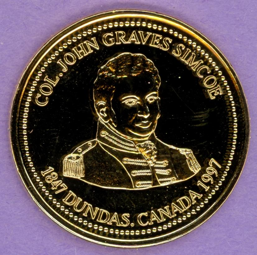 1997 Dundas, Ontario Trade Dollar - Gold Plate