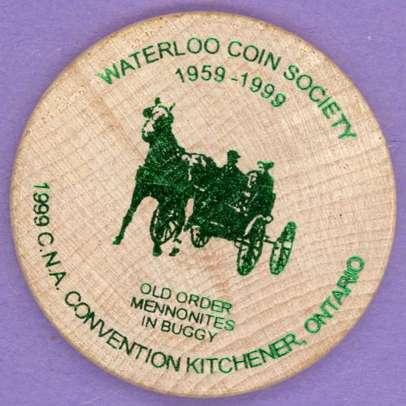 1999 CNA Kitchener Waterlo Wooden Nickel - Ron Zelk
