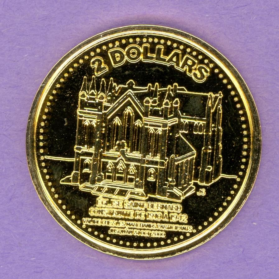 2000 Baie Sainte Marie Trade Token Gold Plate Lighthouse