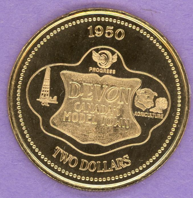 2000 Devon Alberta Trade Dollar Gold Plate