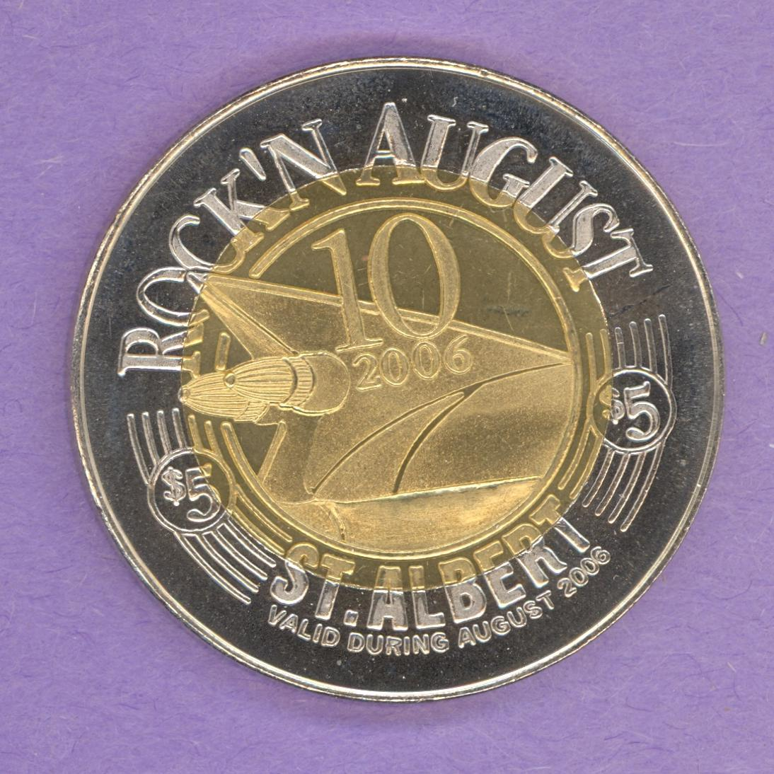 2006 St. Albert Alberta Trade Token Rock'n August Festival Cars Music Bimetallic