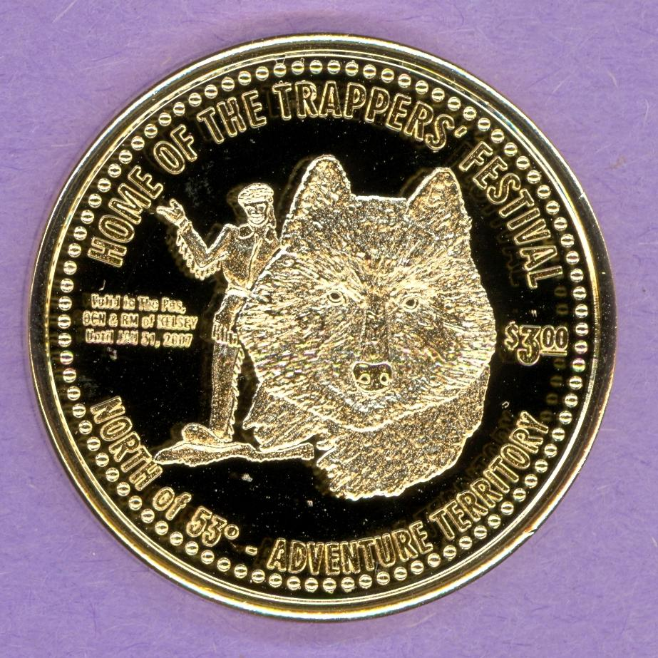 2007 The Pas RM of Kelsey Token NO TEETH Gold Plate (P)