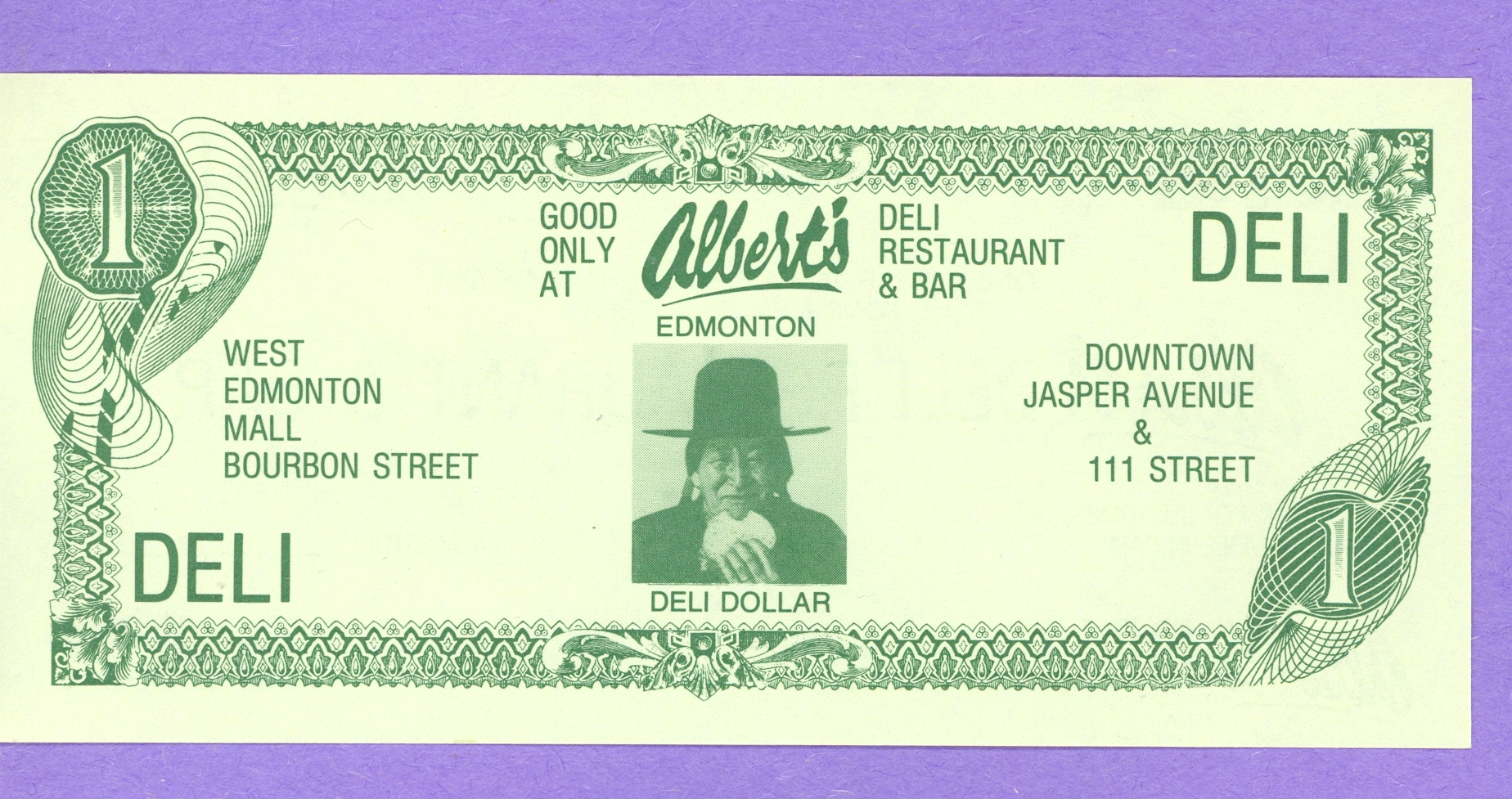 Albert's Deli Dollar Edmonton Alberta West Edmonton Mall and Downtown