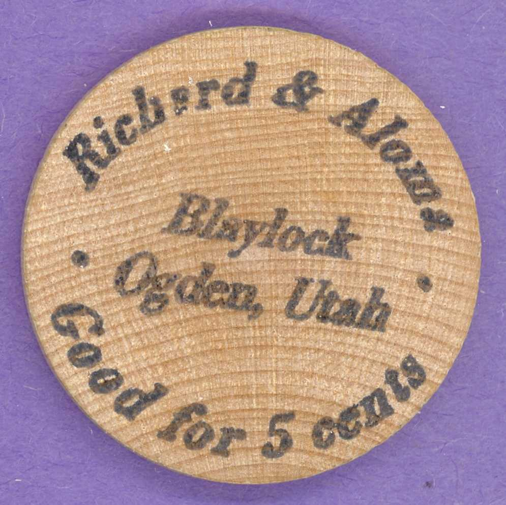 Richard and Aloma Blaylock Wooden Nickel Ogden Utah