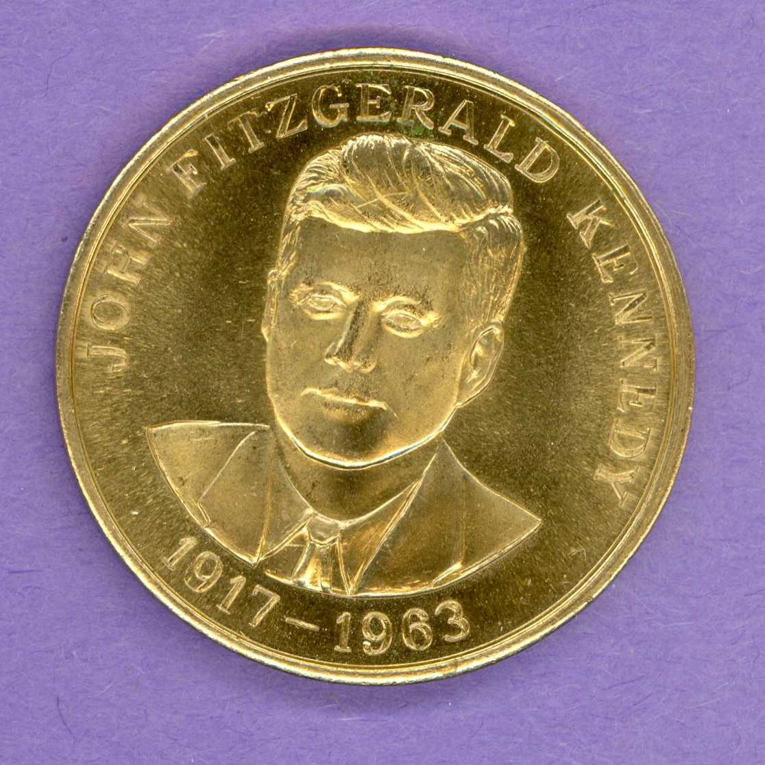 John F Kennedy 35th President Medallion