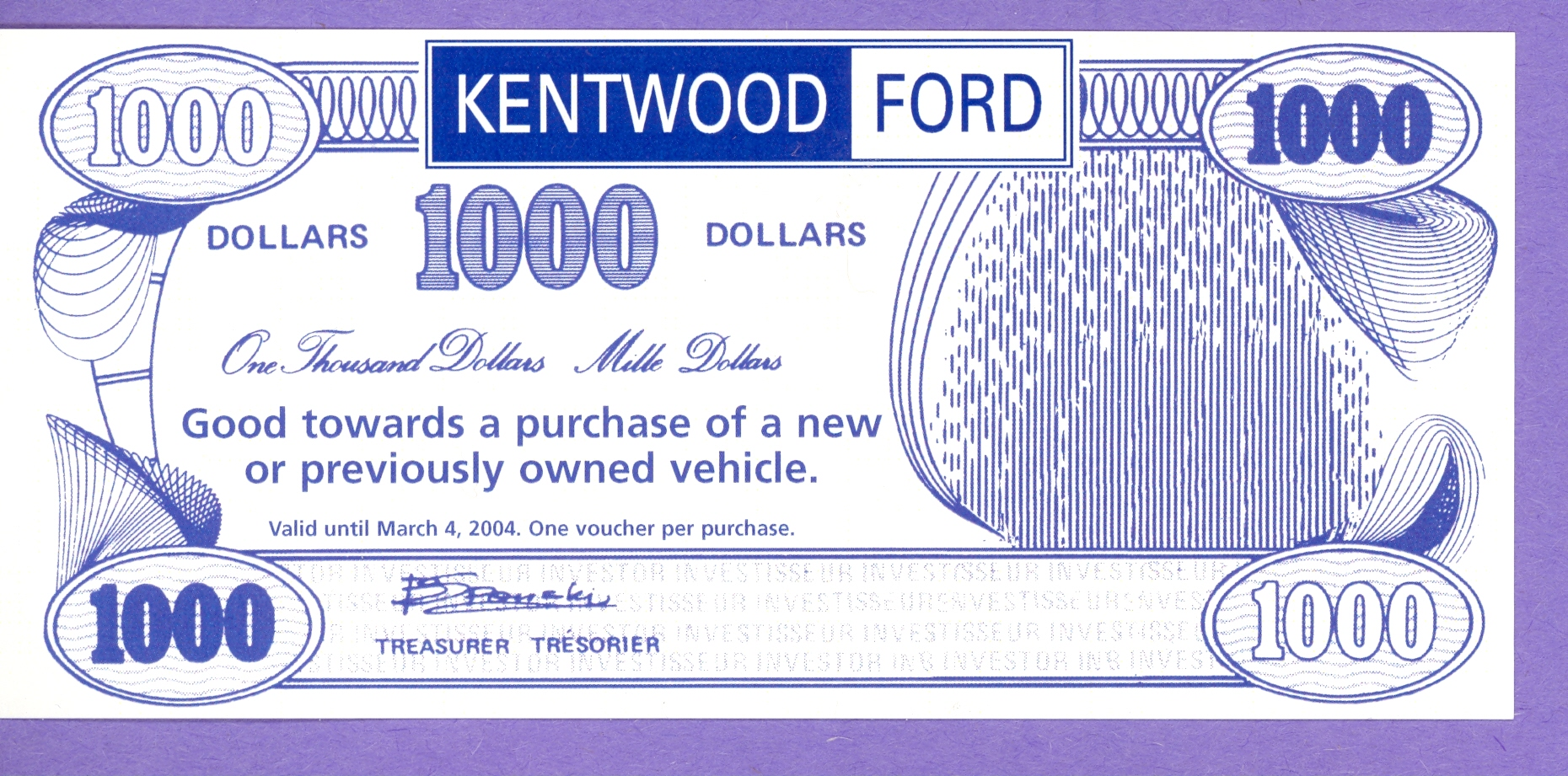 2004 Kentwood Ford $1000 Off Vehicle Purchase