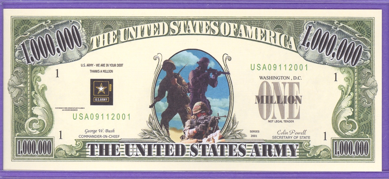 US Army 09/11/ 2001 Fantasy Note