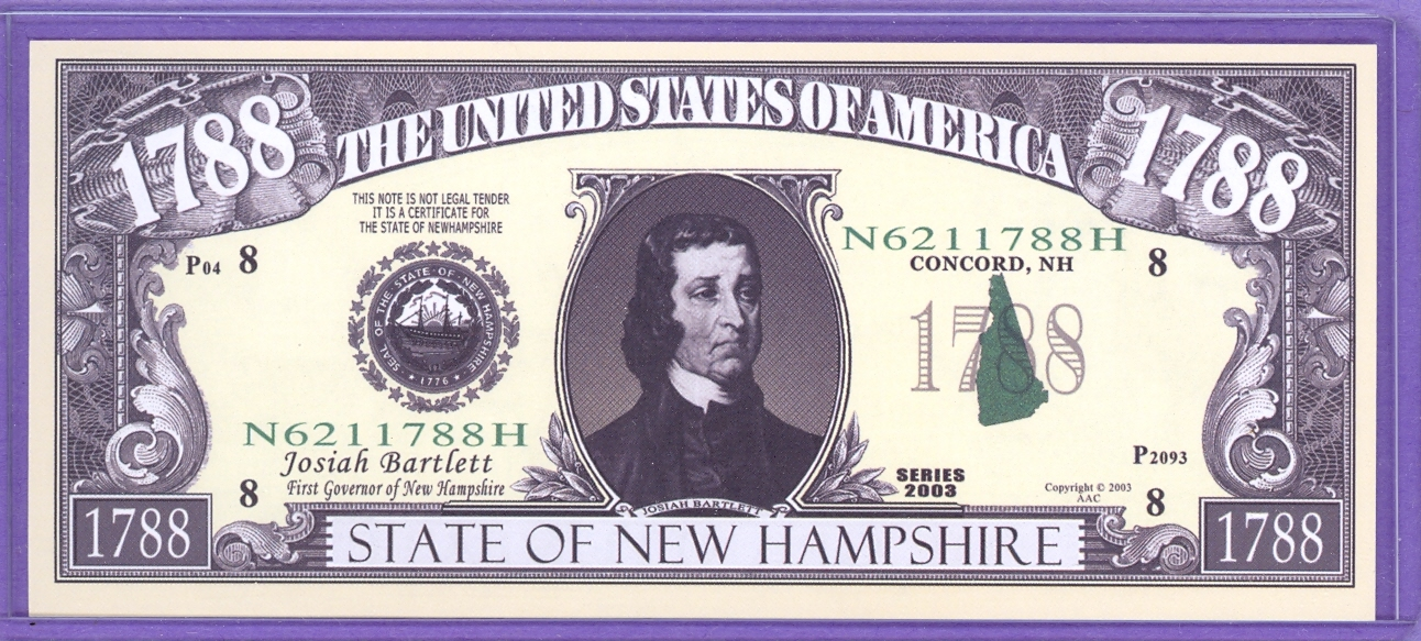 State of New Hampshire Novelty or Fantasy Note