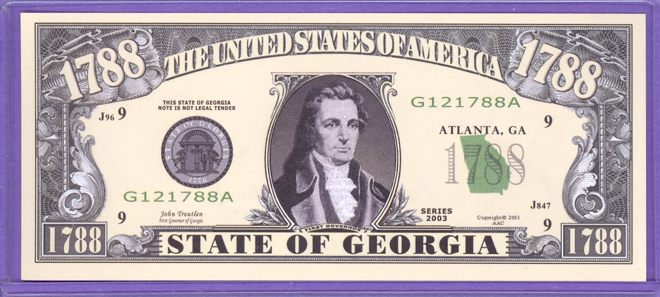 State of Georgia Novelty or Fantasy Note