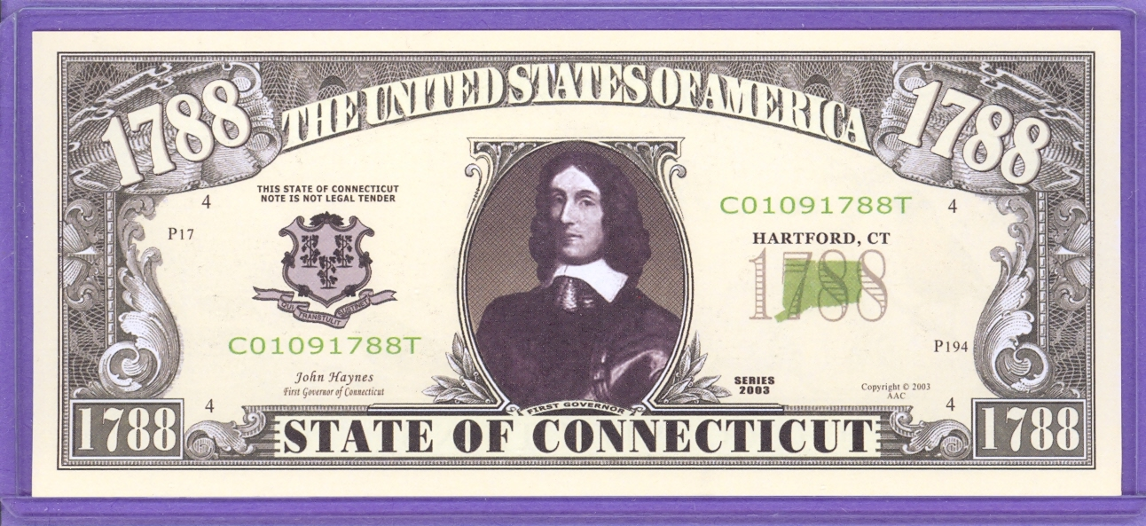 State of Connecticut Novelty or Fantasy Note