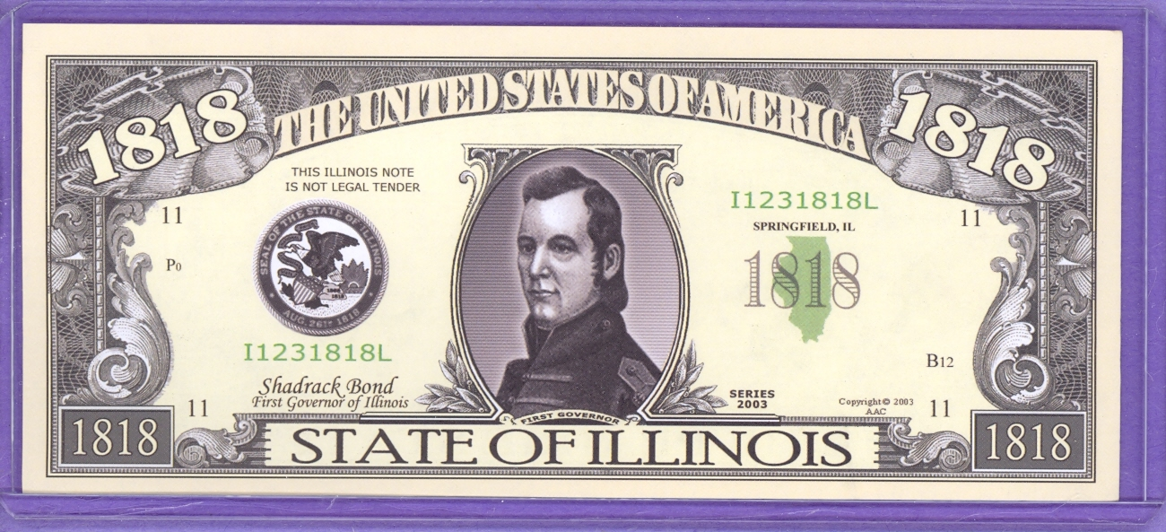 State of Illinois Novelty or Fantasy Note