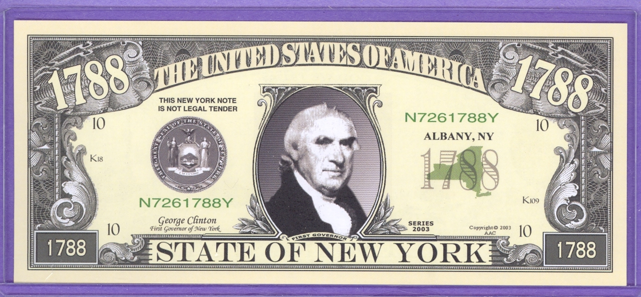State of New York Novelty or Fantasy Note