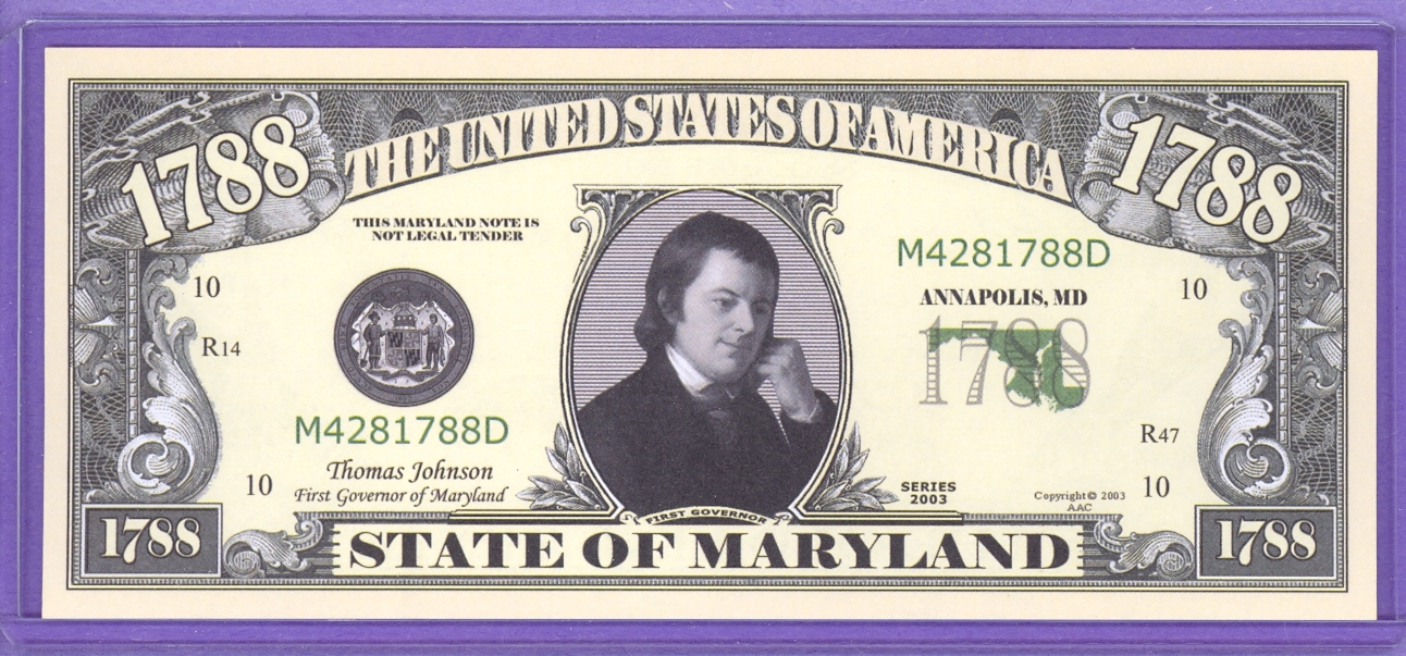 State of Maryland Novelty or Fantasy Note