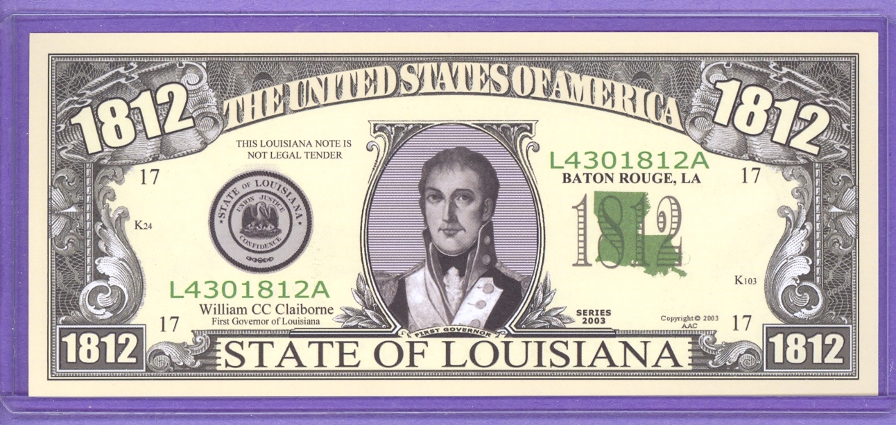 State of Louisiana Novelty or Fantasy Note