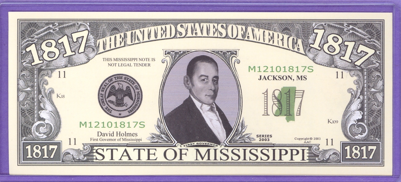 State of Mississippi Novelty or Fantasy Note