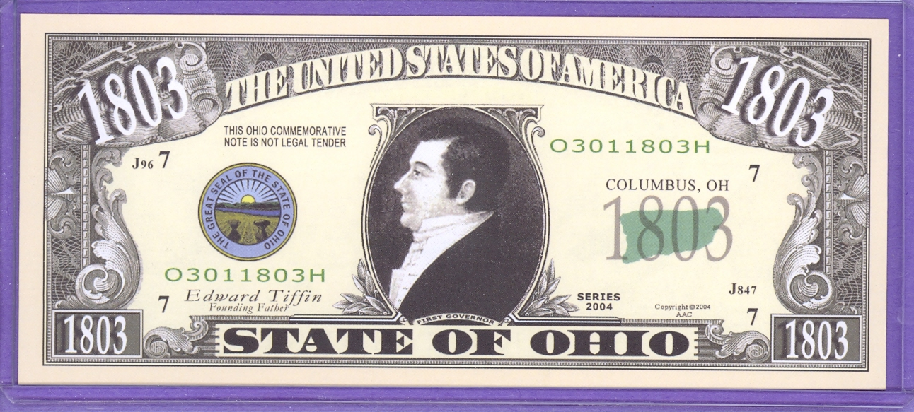 State of Ohio Novelty or Fantasy Note