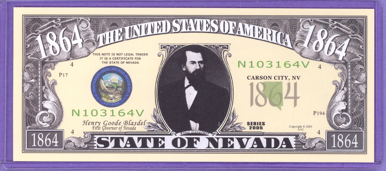State of Nevada Novelty or Fantasy Note