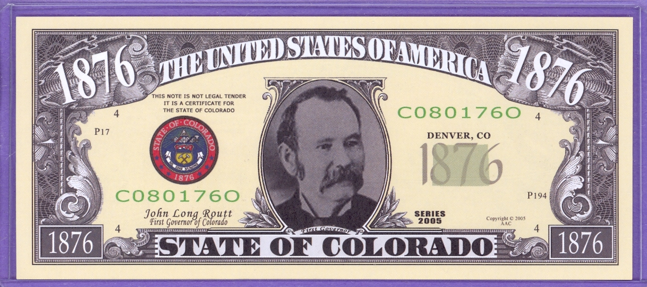State of Colorado Novelty or Fantasy Note