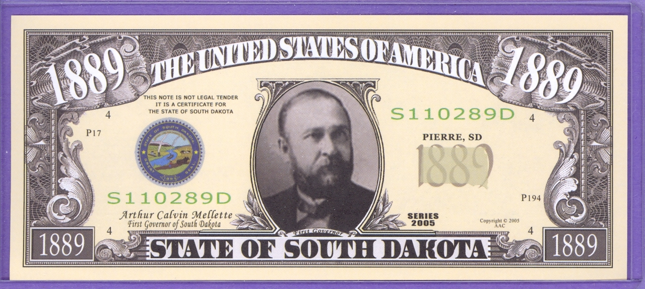 State of South Dakota Novelty or Fantasy Note