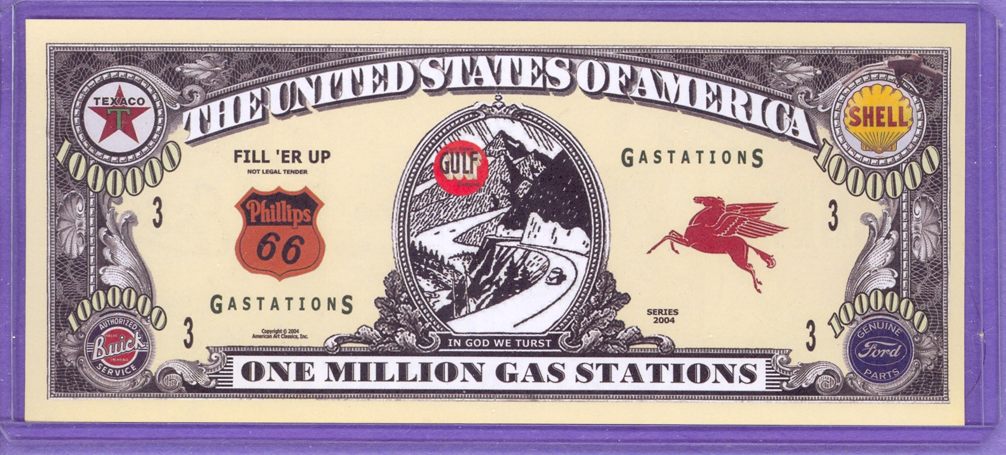 2004 Gas Station $1,000,000 Novelty Note