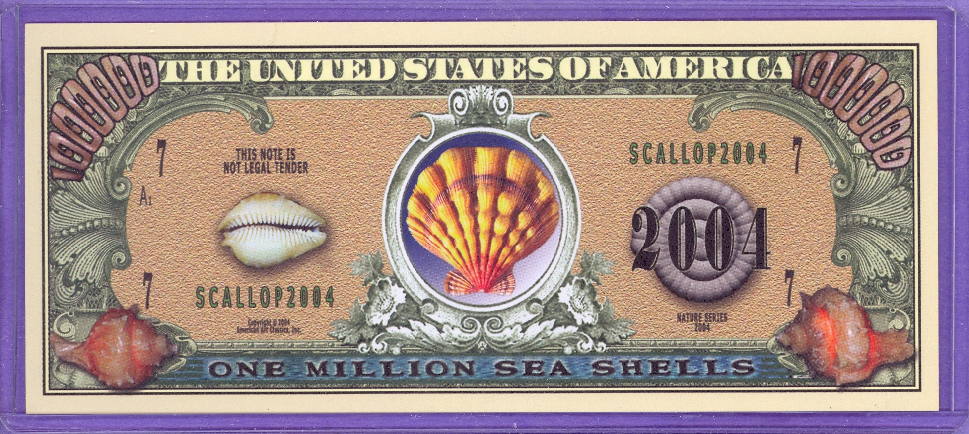 Sea Shells $1,000,000 Novelty Note