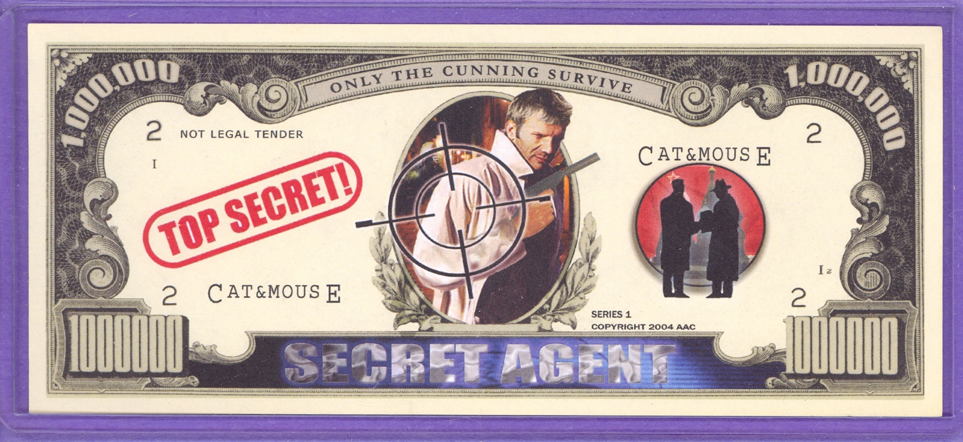 Secret Agent $1,000,000 Novelty or Fantasy Note